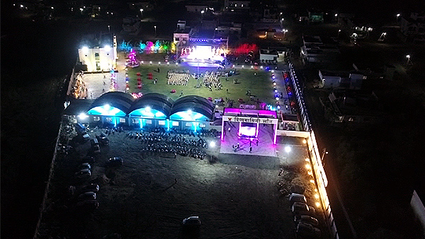 Aerial View Wedding Lawn Nagpur