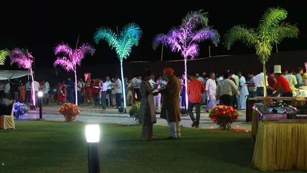 Reception and catering Area inside Vindhyavasini Wedding lawn Nagpur